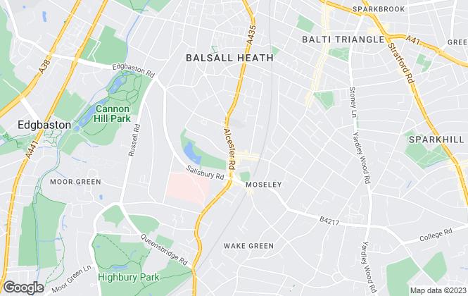 Map for Profectus Estates, Moseley