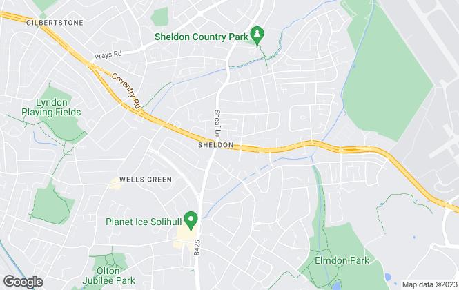 Map for Burchell Edwards, Sheldon