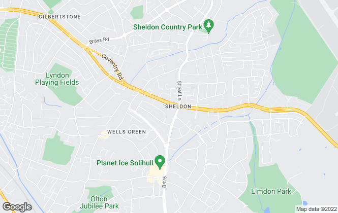 Map for Dixons, Sheldon