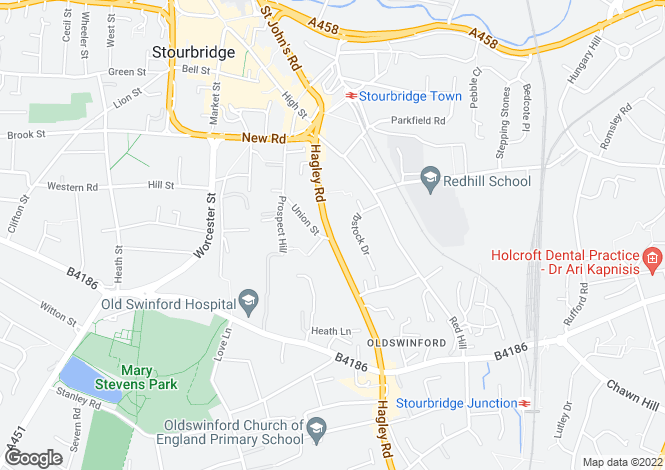 Map for 65, Hagley Road, Stourbridge