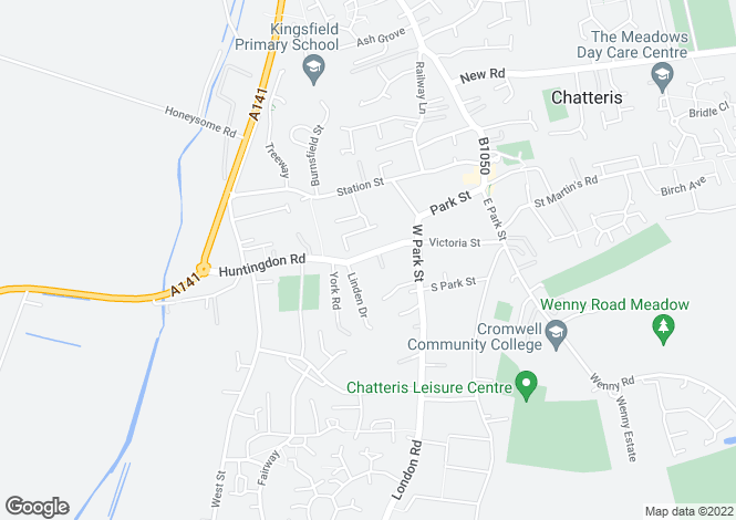 Map for Huntingdon Road, Chatteris