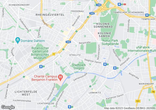 Map for Steglitz, Berlin, Germany