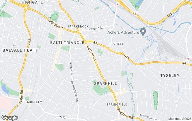 Map for R.H. Properties, Birmingham