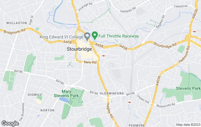 Map for Fine & Country, Stourbridge & Kidderminster