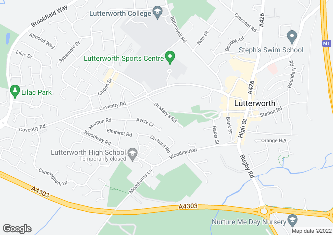 Map for Lutterworth