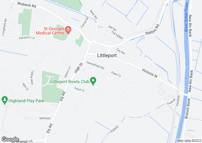 Map for Hempfield Road, Littleport