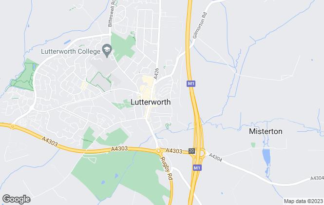 Map for Adams & Jones Estate Agents, Lutterworth