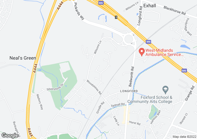Map for Glenmount Avenue, Longford, Coventry, West Midlands, CV6