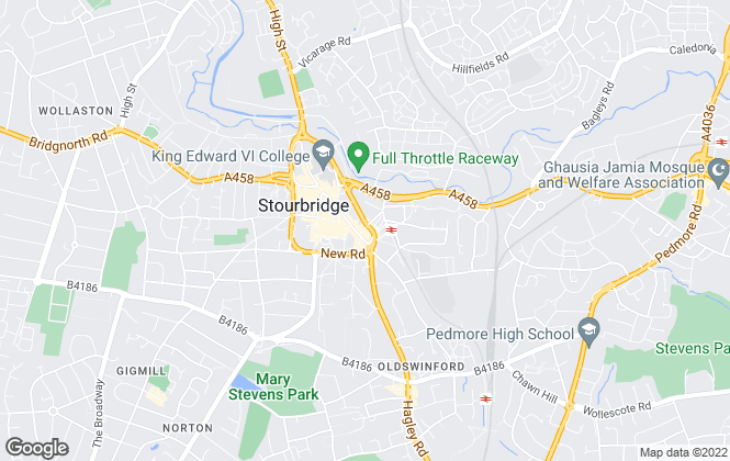 Map for Andrew Grant, Stourbridge