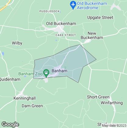 Map of property in Banham