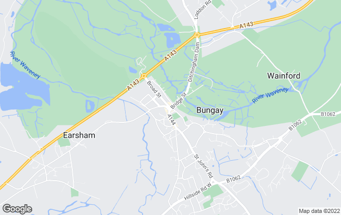 Map for Abbotts, Bungay