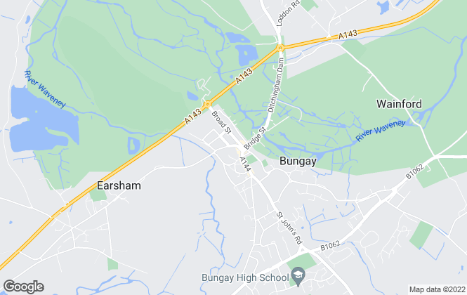 Map for William H. Brown, Bungay