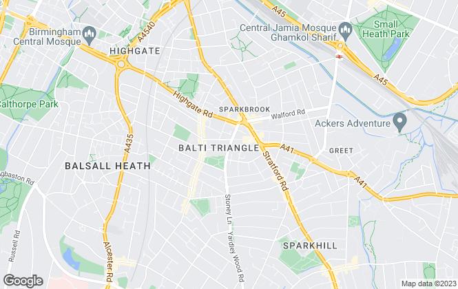 Map for Midland Housing Ltd, Birmingham