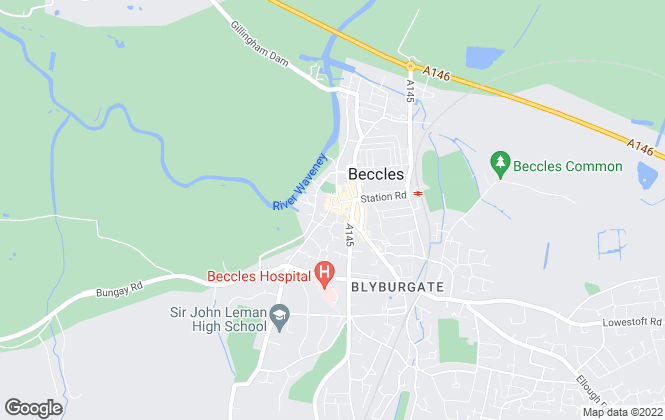 Map for Howards Estate Agents, Beccles