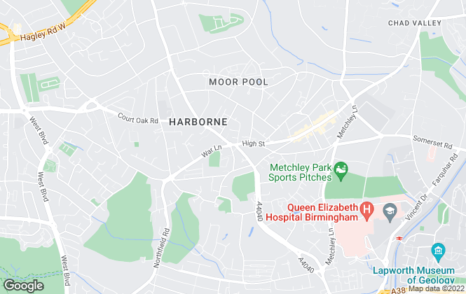 Map for Douglas Estates, Harborne