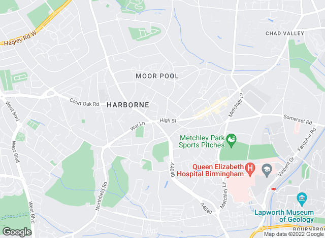 Map for Chamberlains Estate Agents Ltd, Harborne