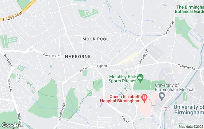 Map for Whittle Estates & Property Services Ltd, Harborne
