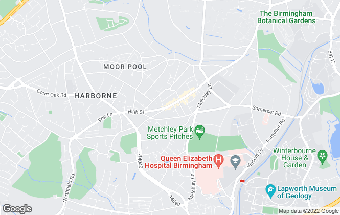Map for Martin & Co, Harborne- Lettings & Sales