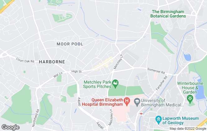 Map for Englands Estate Agents, Harborne