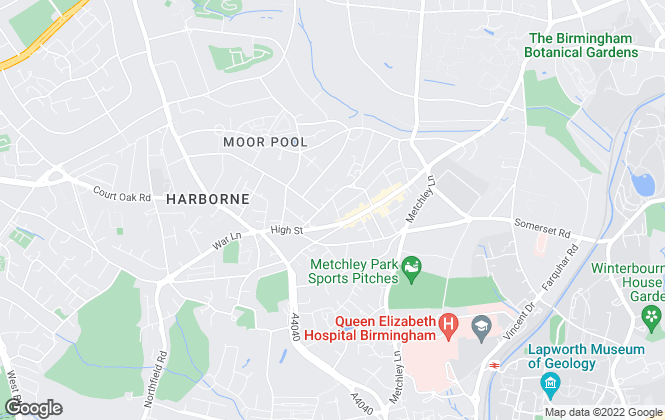 Map for Wentworth & Rose , Harborne