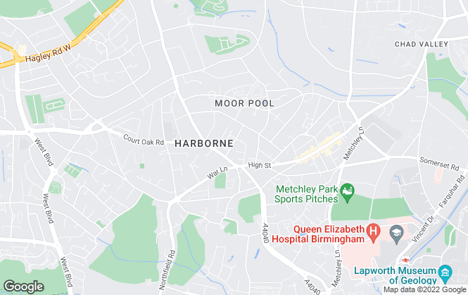 Map for MECS Sales & Lettings, Harborne