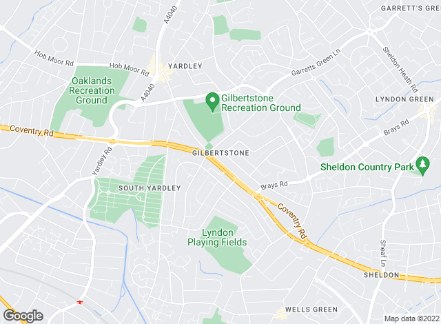 Map for Steeles Estate Agents, Yardley