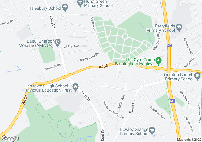 Map for Halesowen Road, HALESOWEN, B62