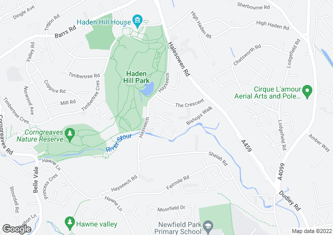 Map for Haden Close, Cradley Heath, West Midlands
