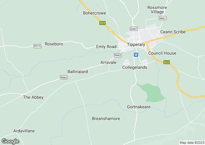 Map for Ballynilard, Tipperary, Co. Tipperary, E34 W312