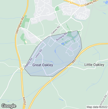Map of property in Great Oakley