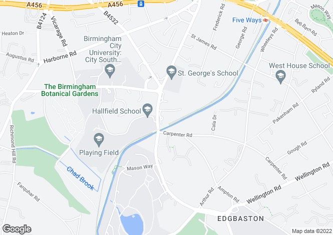 Map for Church Road,