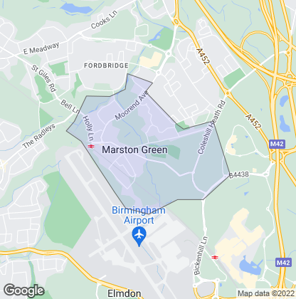 Map of property in Marston Green