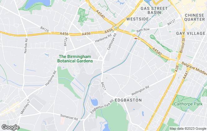 Map for Robert Powell, Birmingham