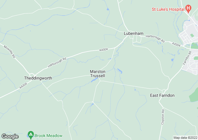 Map for Marston Trussell, Market Harborough, Leicestershire