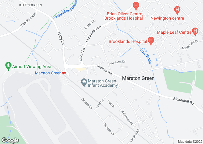 Map for Station Road, Marston Green