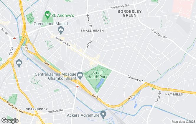 Map for Golden Estates, Birmingham