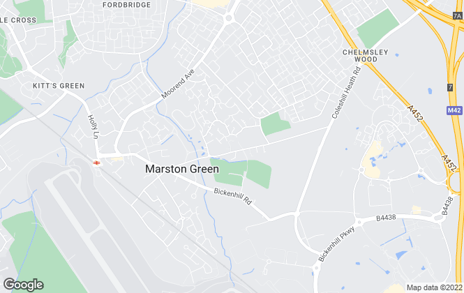 Map for Movers Estate Agents, Marston Green