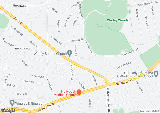 Map for Castle Road East,