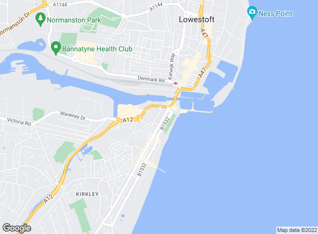 Map for Gage Estate Agents, Lowestoft