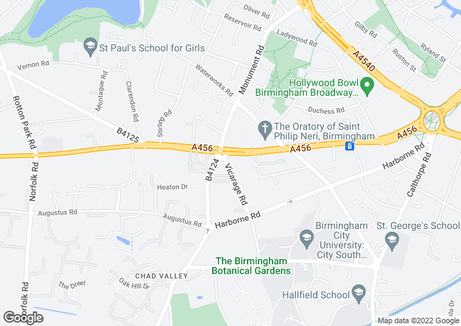 Map for Hagley Road,