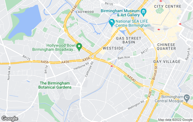 Map for City Life Group, Birmingham
