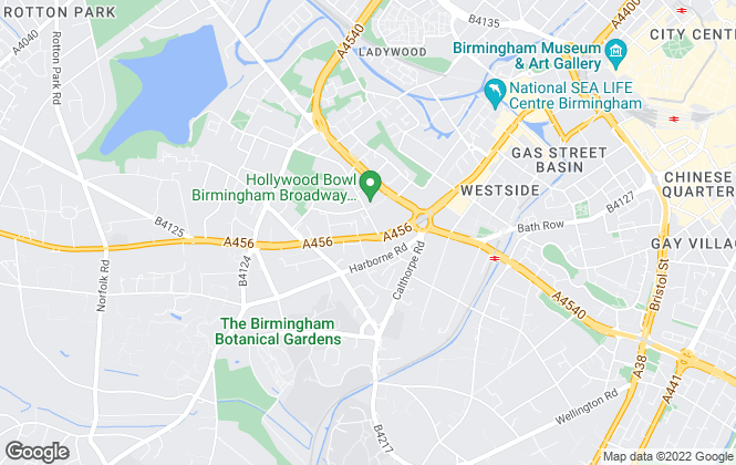 Map for Fine & Country, Birmingham