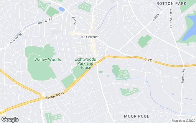 Map for Robert Oulsnam & Company, Hagley Road