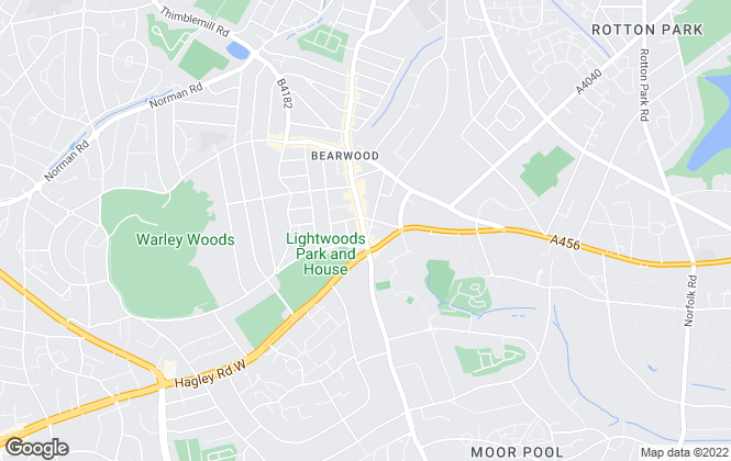 Map for Paul Estates, Birmingham