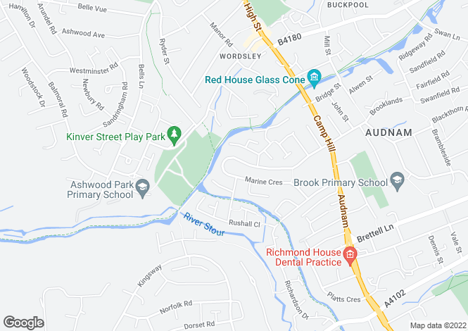 Map for Marine Crescent,