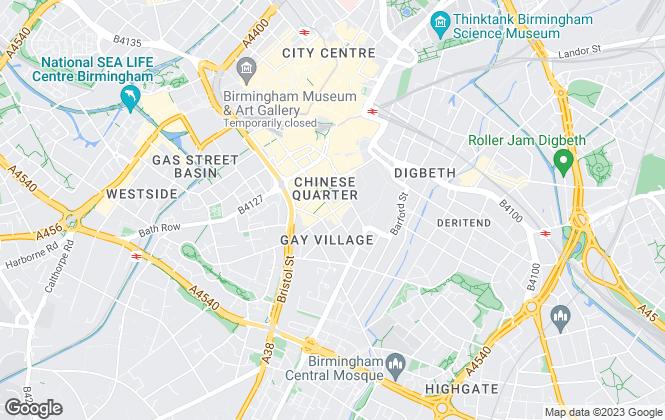 Map for Northwood, Birmingham
