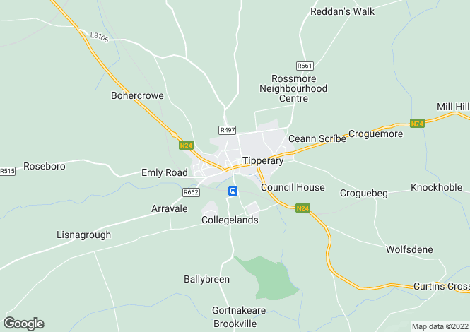 Map for 63-64 Main Street, Tipperary Town, Co Tipperary, E34 T922