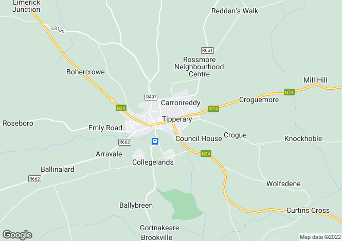 Map for 27 Bank Place, Tipperary, Co. Tipperary, E34 DT21