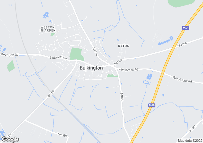 Map for Winterton Road, Bulkington, CV12 9RD