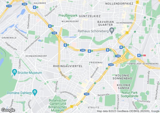 Map for Steglitz, Berlin